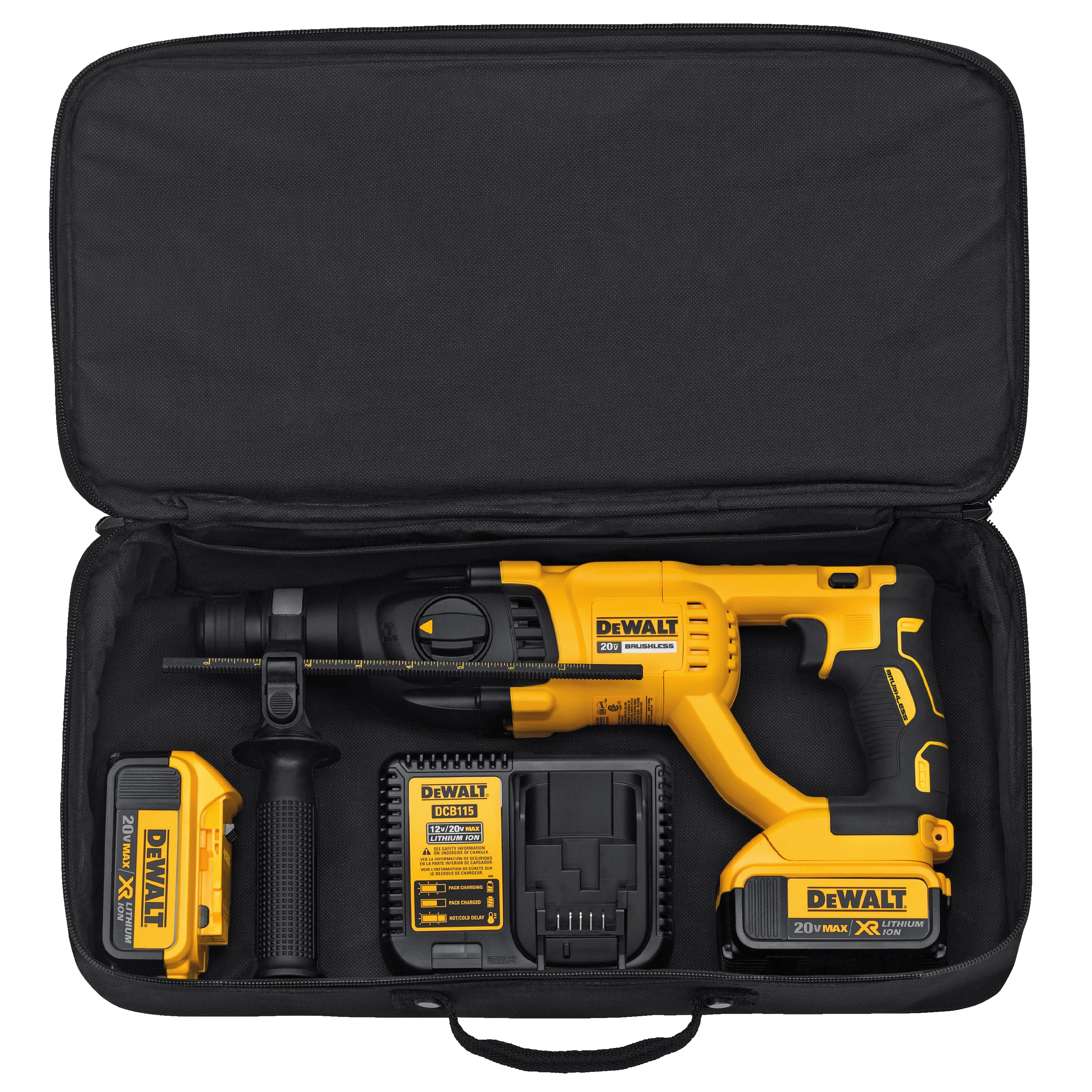 DCH133M2- 20V MAX* XR® Brushless Lithium-Ion 1″ D-Handle Rotary ...