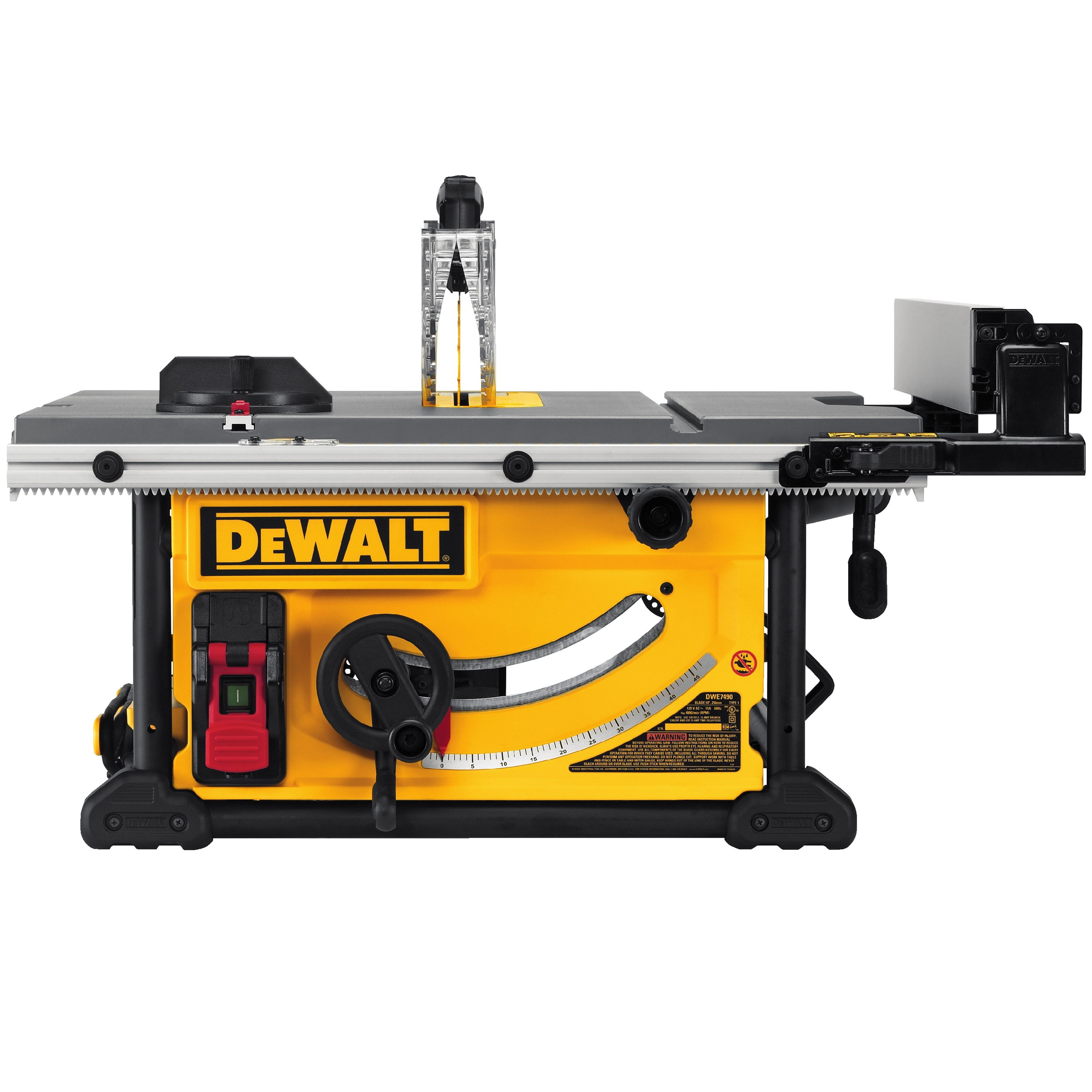 dwe7491rs 10 compact jobsite table saw w rolling stand bulldog fasteners. Black Bedroom Furniture Sets. Home Design Ideas